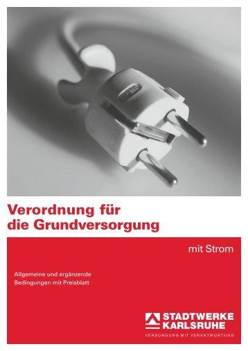 StromGVV, Ergänzende Bedingungen mit Preisblatt - Stadtwerke ...