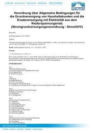 Grundversorgungsverordnung Strom (GVV)