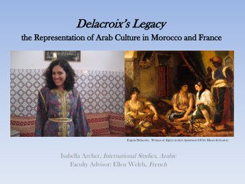 Delacroix's Legacy the Representation of Arab Culture in Morocco ...