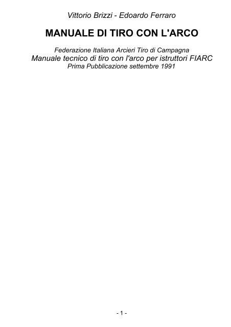 L'arco Di Manuale Tiro Windoweb Con dCxoWrBe