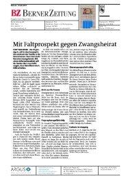 Berner Zeitung, 16.06.11 - Daniel Steiner-Brütsch