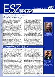ESZ NEWS N. 60 Febbraio 2013.pdf - Edizioni Suvini Zerboni