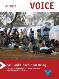 VOICE 4/2010 - Gesellschaft für bedrohte Völker