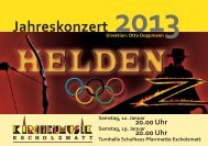 Jahreskonzert 2013 - Kirchenmusik Escholzmatt