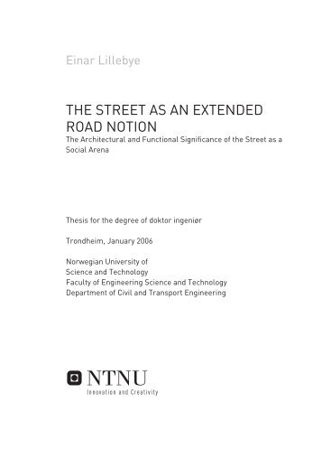THE STREET AS AN EXTENDED ROAD NOTION - botsfor