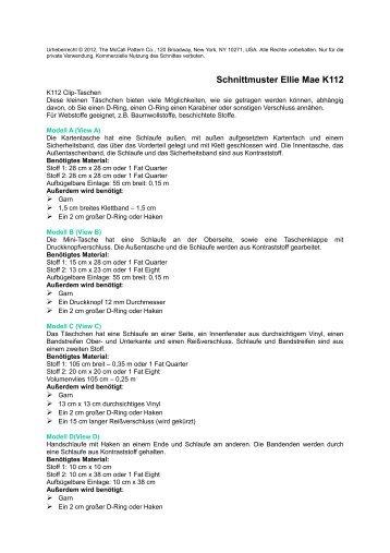 Informationen zu Maßen und Stoffverbrauch - Funfabric.com