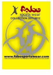 PDF Catalogue - Fabo sports wear | handball | sportswear