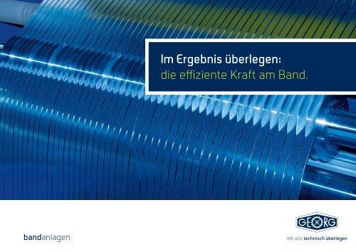 Imagebroschüre - Heinrich Georg GmbH Maschinenfabrik