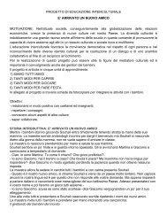 PROGETTO DI EDUCAZIONE INTERCULTURALE E ... - Fantavolando