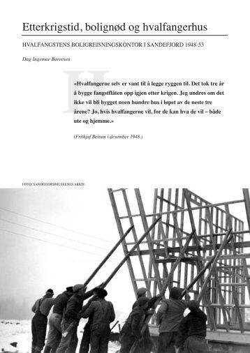 Etterkrigstid, bolignød og hvalfangerhus - Hvalfangstmuseet