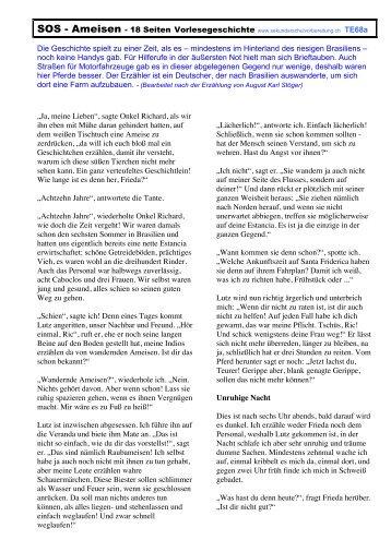 SOS - Ameisen - Mittelschulvorbereitung Deutsch