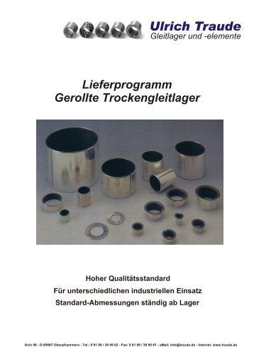 Ulrich Traude - U. Traude, Gleitlager und