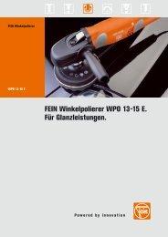 FEIN Winkelpolierer WPO 13-15 E. Für ... - Dichtstoff Shop