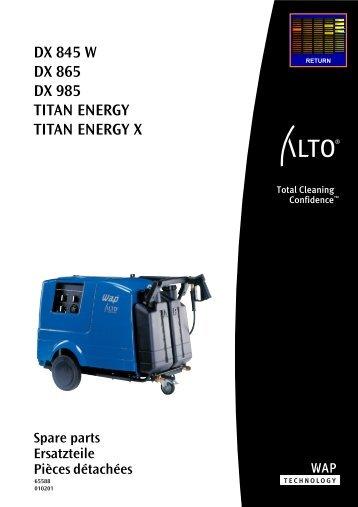DX 845, 865, 985, TITAN ENERGY
