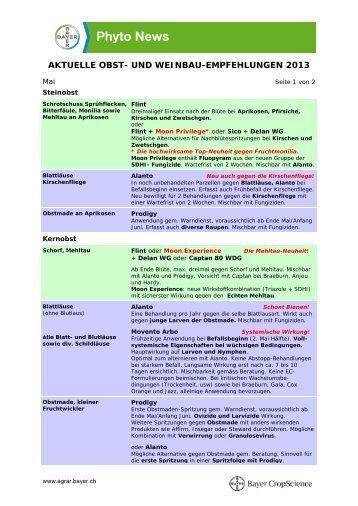 Obst- und Weinbau Mai 2013 - Bayer CropScience
