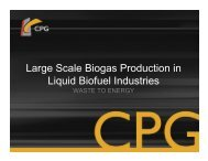 Large Scale Biogas Production in Liquid Biofuel Industries