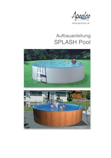 aufbauanleitung und bedienungsanweisung rundpools poolsana. Black Bedroom Furniture Sets. Home Design Ideas
