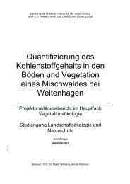 Quantifizierung des Kohlenstoffgehalts in den Böden und ...