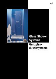 GRAL Glass shower systems - Ace Consulting
