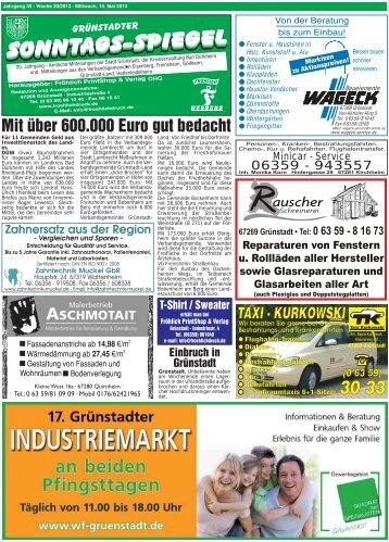 Ausgabe Woche 20-2013 - GRÜNSTADTER Sonntags-Spiegel
