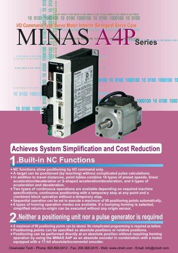 Panasonic MINAS A4P Series AC Servo Motors / Drivers - opis.cz