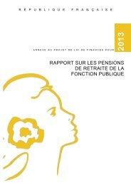Rapport sur les pensions de retraite de la fonction publique [jaune ...
