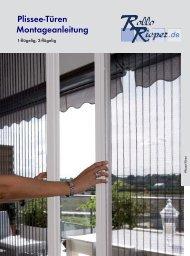 Plissee-Türen Montageanleitung - Rollo Rieper
