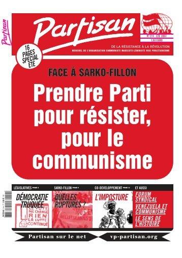 FACE À SARKO-FILLON - OCML Voie Prolétarienne