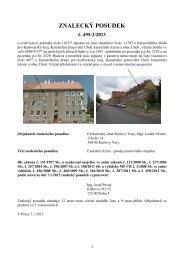 ZNALECKÝ POSUDEK - Exekutorský úřad Karlovy Vary