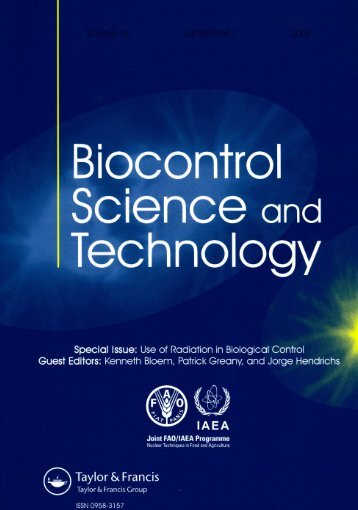 Biocontrol Science and Technology - Nuclear Sciences and ...