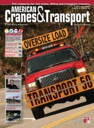 ACT Transport 50 ranking North America's largest ... - Cranes for Sale