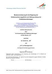 Mustervereinbarung für die Regelung der Verkehrssicherungspflicht ...