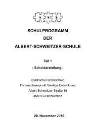 SCHULPROGRAMM DER ALBERT-SCHWEITZER-SCHULE Teil 1
