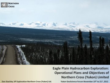 Eagle Plain Hydrocarbon Exploration: Operational Plans and ...