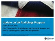 Beck JDVAC 2013 Update on VA Audiology Program