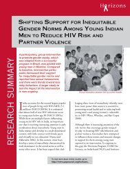 Shifting support for inequitable gender norms among young Indian ...