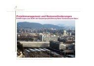 Projektmanagement und Nutzeranforderungen am Beispiel ...