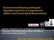 Michael C. Wimberly, Ph.D. and Ting-Wu Chuang, Ph.D ... - NASA