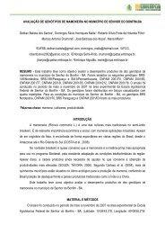AVALIAÇÃO DE GENÓTIPOS DE MAMONEIRA ... - Embrapa Algodão