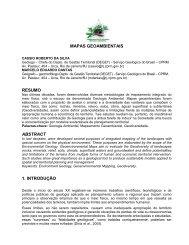 MAPAS GEOAMBIENTAIS - CPRM
