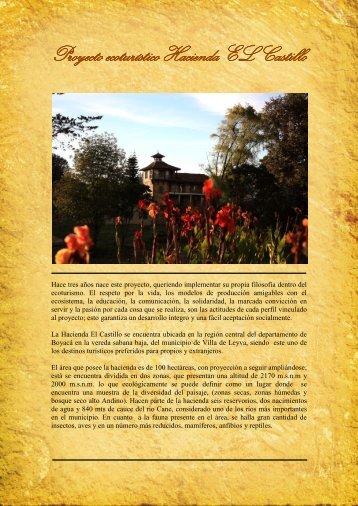 Proyecto ecoturístico Hacienda EL Castillo - Le Jaguar