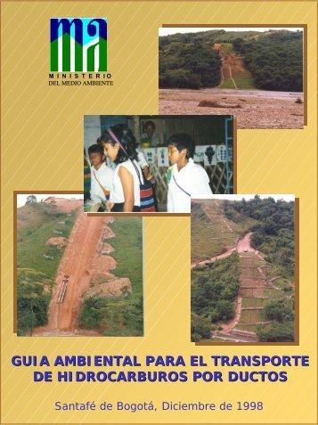 guia ambiental para el transporte de hidrocarburos por ductos