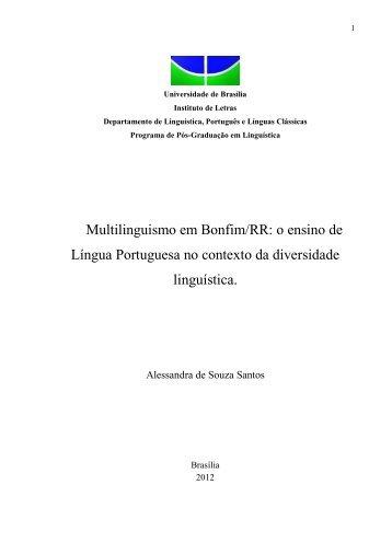 Multilinguismo em Bonfim/RR: o ensino de Língua Portuguesa no ...