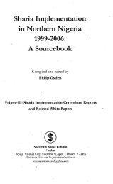 Sharia Implementation in Northern Nigeria 1999-2006: A Sourcebook
