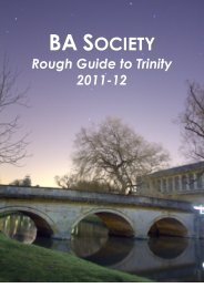 Rough Guide 2011 - Trinity College - University of Cambridge
