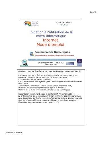 Internet. Mode d'emploi. - Cornil - Free