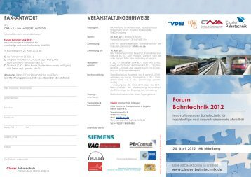 Flyer Forum Bahntechnik 2012