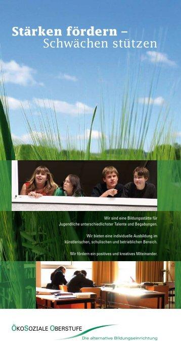 Ökosoziale Oberstufe Broschüre [2006] - ASSIST-Novy GmbH