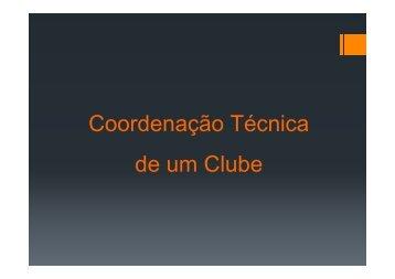 A Coordenação de um CLUBE - ABP