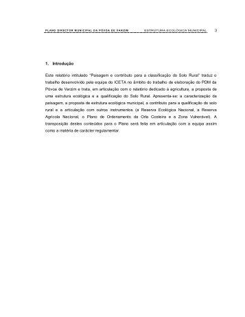 """""""Paisagem e contributo para a classificação do Solo ... - Campo Aberto"""